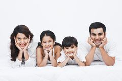 Family smiling. Portrait of a family smiling Royalty Free Stock Images