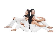Family smiling Stock Photography