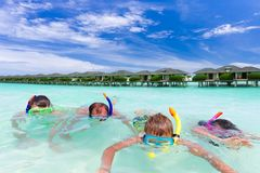 Family snorkeling Royalty Free Stock Image