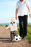 Family soccer Royalty Free Stock Image