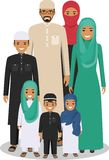 Family and social concept. Arab people generations at different ages. Arab people father, mother, son and daughter Stock Images