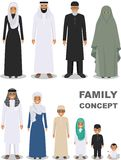 Family and social concept. Arab people generations at different ages. Arab people father, mother, son, daughter Royalty Free Stock Image