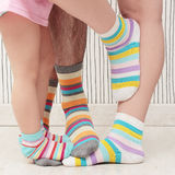 Family in socks Royalty Free Stock Photo