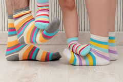 Family in socks Royalty Free Stock Images