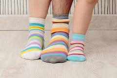 Family in socks Royalty Free Stock Image