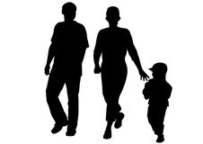 Family with son Stock Photography