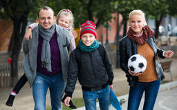 Family with son and daughter Stock Photography