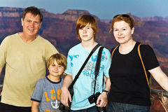 Family at south rim , Grand canyon Royalty Free Stock Photos