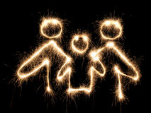 family sparkler symbol στοκ εικόνα