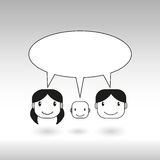 Family speech bubble vector background for text Royalty Free Stock Photos