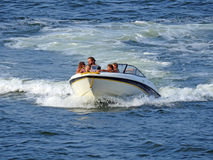 Family speedboat leisure cruise Royalty Free Stock Photos