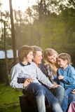 Family Spending Leisure Time At Campsite Royalty Free Stock Photo