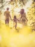 Family spending time together outside. stock photos