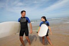 Family sport activity Stock Photos