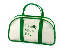 Family sport bag. Isolated on white background Royalty Free Stock Photos