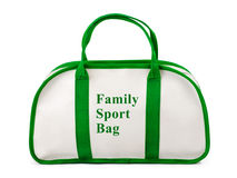 Family sport bag. Isolated on white background Stock Photos