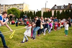 Family sport picnic stock photography
