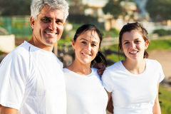 Family in sportswear Stock Photo