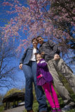 Family in spring Stock Images