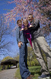 Family in spring Royalty Free Stock Image