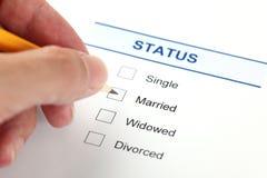 Family status form (Marital Status form) Royalty Free Stock Image