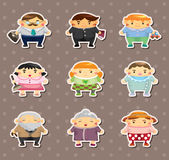 Family sticers Royalty Free Stock Images