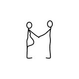 Family stick figures icon vector. Family stick figures icon over white background, vector illustration Royalty Free Stock Photography