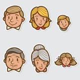 Family sticker Stock Image