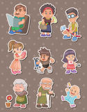 Family stickers Royalty Free Stock Photography