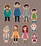 Family stickers Royalty Free Stock Photos