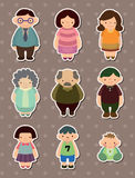 Family stickers Royalty Free Stock Images