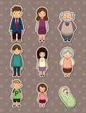 Family stickers Royalty Free Stock Image