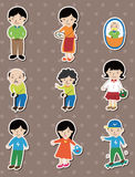 Family stickers Stock Images