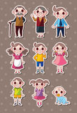 Family stickers Stock Photo
