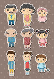 Family stickers Royalty Free Stock Photo