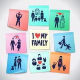 Family Stickers Set Royalty Free Stock Images