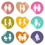 Family stickers set Royalty Free Stock Photo