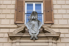 Family stone coat of arms in Florence Stock Image