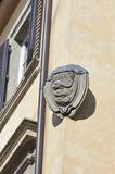 Family stone coat of arms in Florence Royalty Free Stock Image