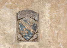 Family stone coat of arms in Florence Royalty Free Stock Photo