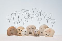Family stones. Abstract family stones on the sand background royalty free stock images