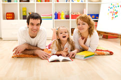 Family story time Stock Photos