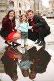 Family on street Royalty Free Stock Photo