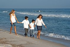 Family Stroll Royalty Free Stock Photo
