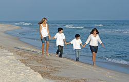 Family Stroll Royalty Free Stock Photography