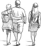 Family on a stroll Royalty Free Stock Images