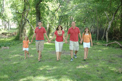 Family Strolling Stock Images