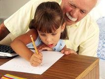 Family studing. Royalty Free Stock Images