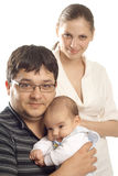 Family in studio Royalty Free Stock Photography