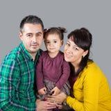 Family of 3 in studio Stock Image